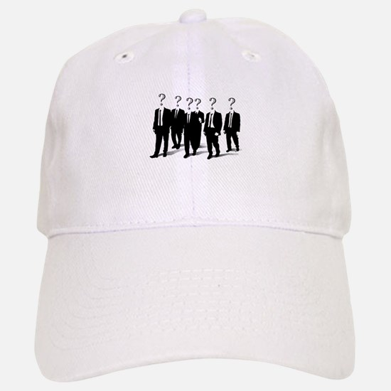 Suits with question marks as heads Baseball Baseball Baseball Cap