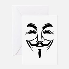 Guy Fawkes Stencil Greeting Cards