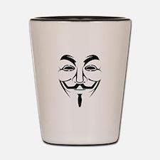 Guy Fawkes Stencil Shot Glass