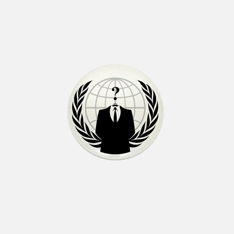 Anonymous Seal Mini Button