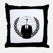 Anonymous Seal Throw Pillow