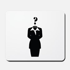 AnonymissSuitwithQmark Mousepad