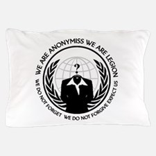 Anonymiss seal with words around the edge Pillow C