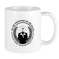 Anonymiss seal with words around the edge Mugs