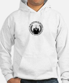 Anonymiss seal with words around the edge Hoodie