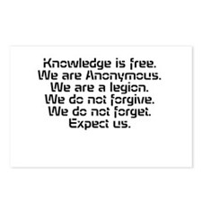 Knowledge is free.1 Postcards (Package of 8)