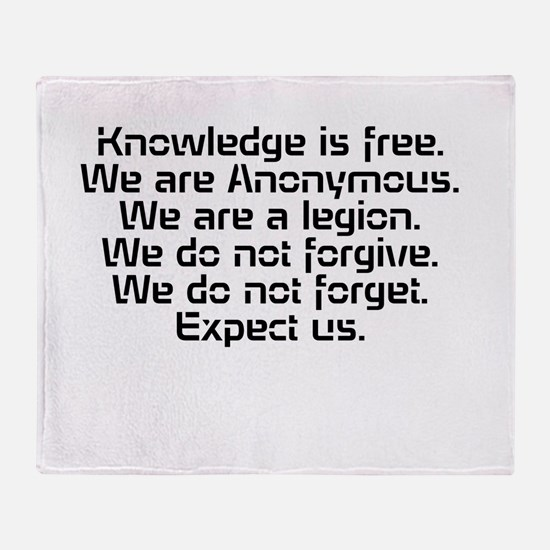 Knowledge is free.1 Throw Blanket