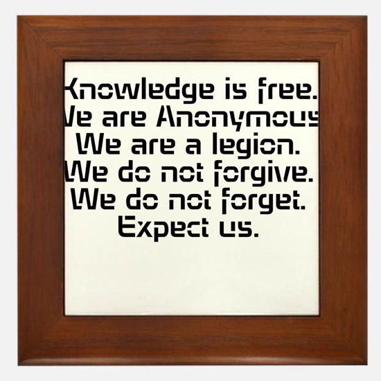 Knowledge is free.1 Framed Tile