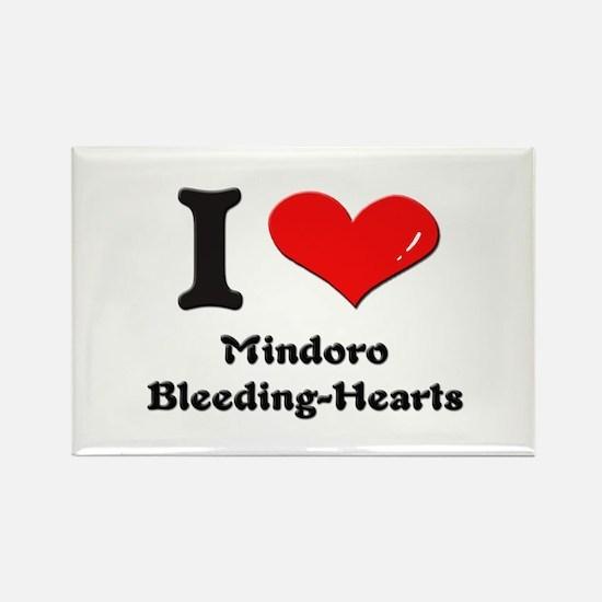 I love mindoro bleeding-hearts Rectangle Magnet
