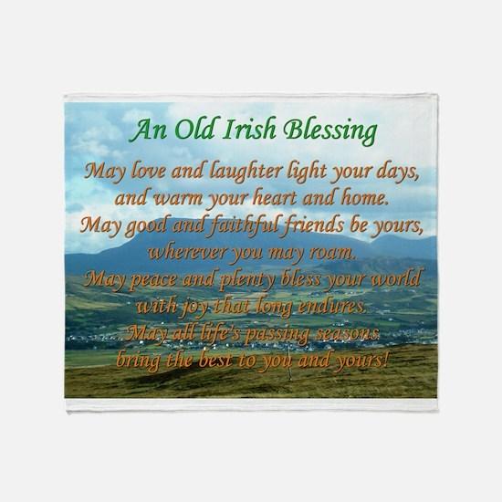 Old Irish Blessing #2 Throw Blanket