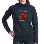 I Love Strawberries Women's Hooded Sweatshirt