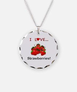 I Love Strawberries Necklace