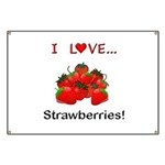 I Love Strawberries Banner