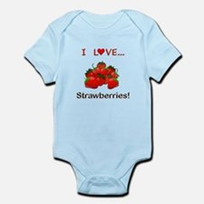 I Love Strawberries Infant Bodysuit