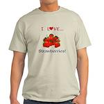 I Love Strawberries Light T-Shirt