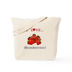 I Love Strawberries Tote Bag