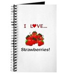 I Love Strawberries Journal