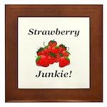 Strawberry Junkie Framed Tile
