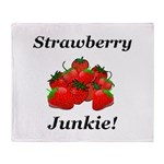 Strawberry Junkie Throw Blanket