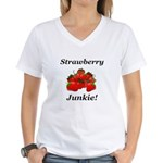 Strawberry Junkie Women's V-Neck T-Shirt