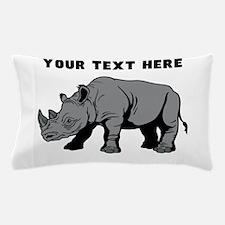 Custom Baby Rhino Pillow Case