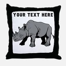 Custom Baby Rhino Throw Pillow