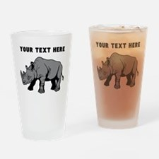 Custom Baby Rhino Drinking Glass
