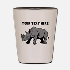 Custom Baby Rhino Shot Glass