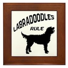 Labradoodles Rule Framed Tile