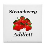 Strawberry Addict Tile Coaster