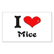 I love mice Rectangle Decal