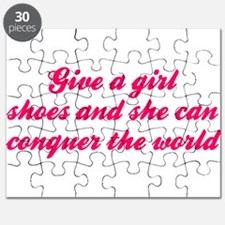 Give A Girl Shoes She Can Conquer The World Puzzle