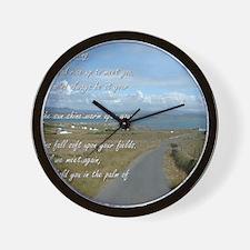 Old Irish Blessing #1 Wall Clock