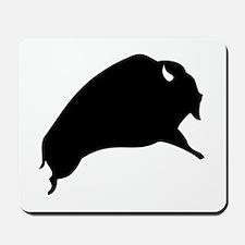 Black Buffalo Silhouette Mousepad