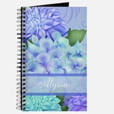 Purple Hydrangea Personalized Journal