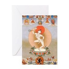 Vintage Tibetan Art Greeting Card