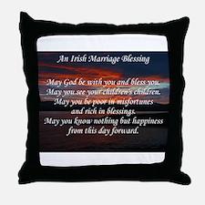 Irish Marriage Blessing Throw Pillow