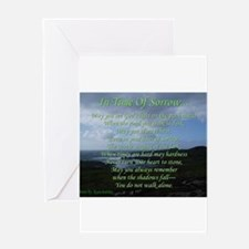 In Time of Sorrow Greeting Cards