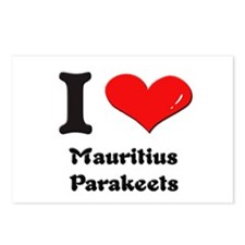 I love mauritius parakeets  Postcards (Package of
