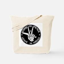 Come in Peace Tote Bag