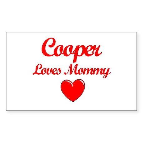 Cooper Loves Mommy Rectangle Sticker