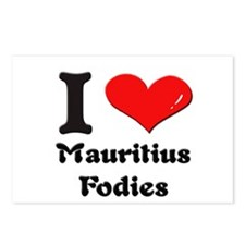 I love mauritius fodies  Postcards (Package of 8)