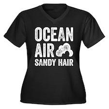 Ocean Air Sa Women's Plus Size V-Neck Dark T-Shirt