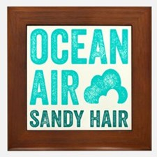 Ocean Air Sandy Hair Framed Tile