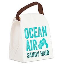Ocean Air Sandy Hair Canvas Lunch Bag