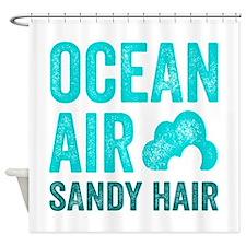 Ocean Air Sandy Hair Shower Curtain