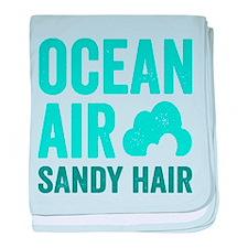 Ocean Air Sandy Hair baby blanket