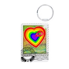 Kiss of Rainbow Love Stamp Keychains