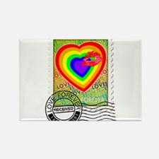 Kiss of Rainbow Love Stamp Magnets