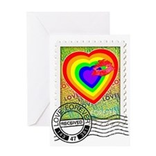 Kiss Of Rainbow Love Stamp Greeting Cards